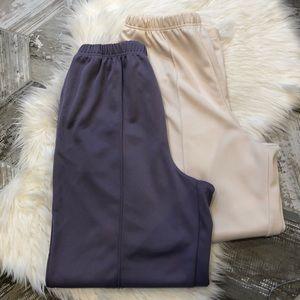 Blair polyester slacks bundle 18 lilac/cream